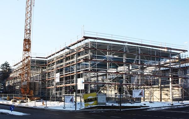 Bau neue Produktionshalle